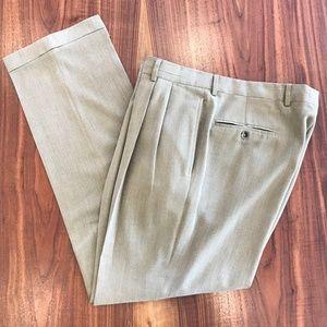 Jos A. Bank Men's Silk/Wool Dress Slacks 36x32